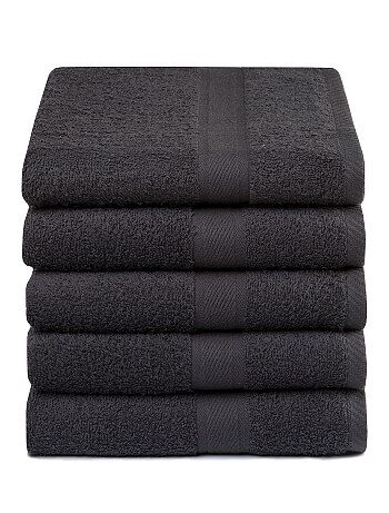 Pack de 5 toallas de algodón puro - Kiabi