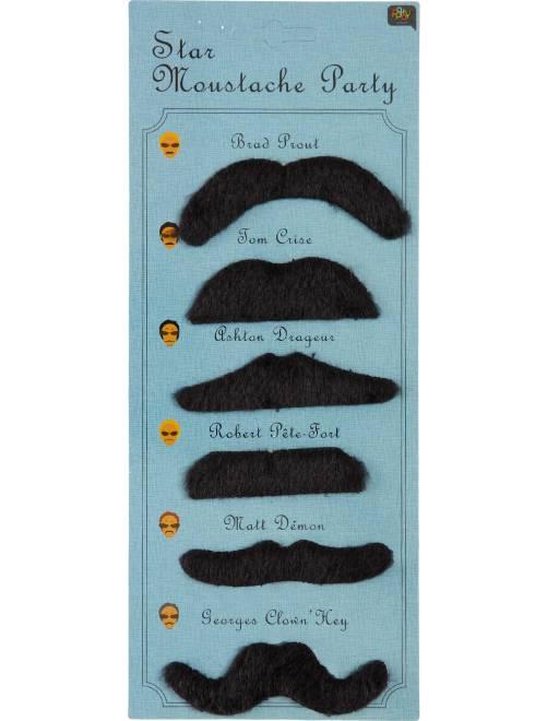 Pack de 6 bigotes                             negro