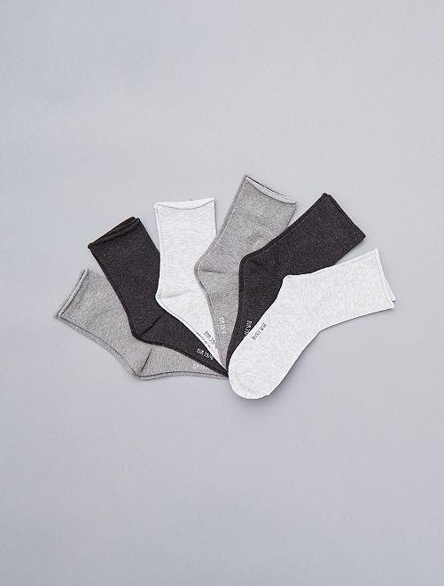 Pack de 6 pares de calcetines                                         gris