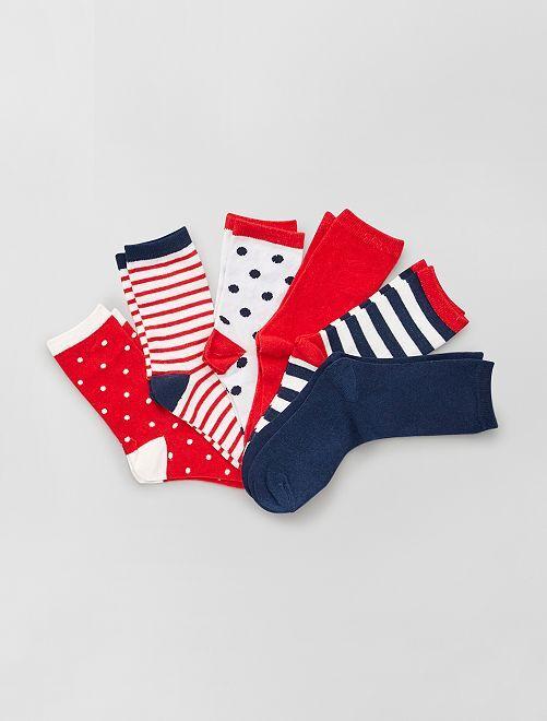 Pack de 6 pares de calcetines                                         ROJO