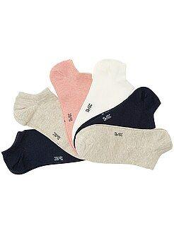 Lencería de la S a la XXL Pack de 6 pares de calcetines tobilleros