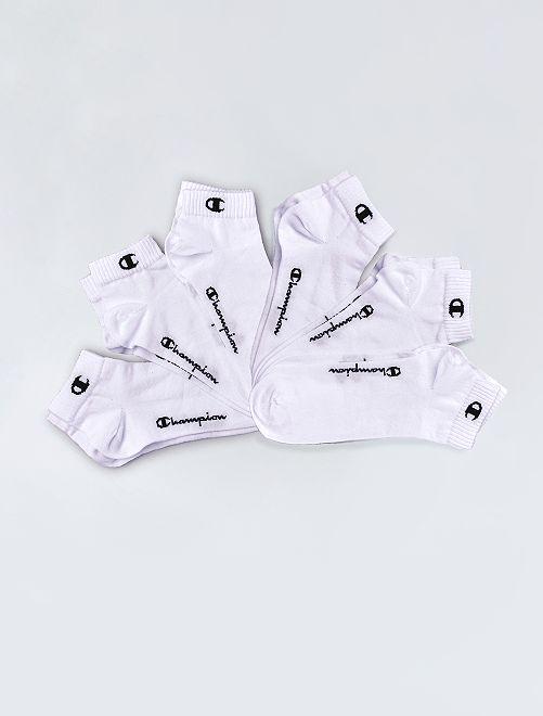 Pack de 6 pares de calcetines tobilleros 'Champion'                                                     blanco