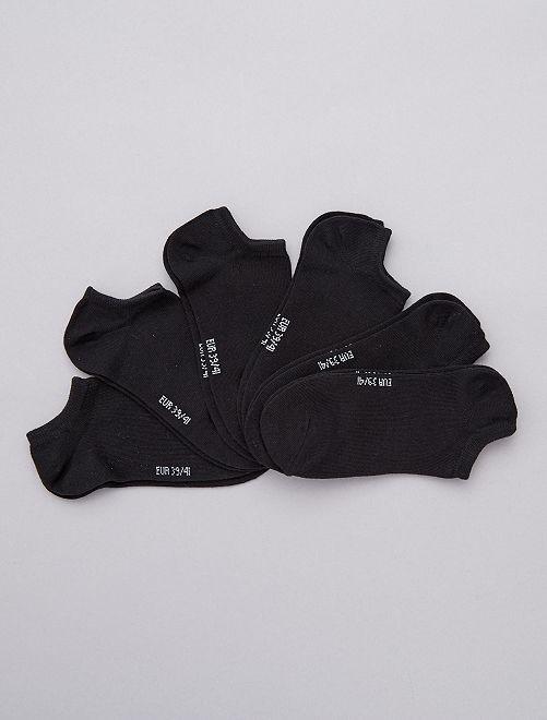 Pack de 6 pares de calcetines tobilleros                                                                             negro