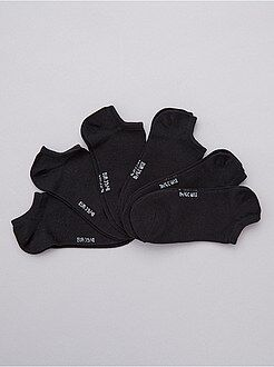 Pack de 6 pares de calcetines tobilleros