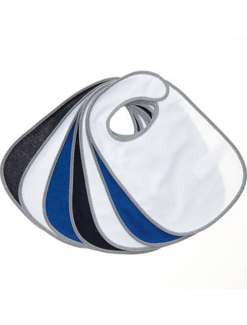Pack de 7 baberos de rizo forrados                                                     azul