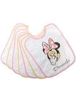 Pack de 7 baberos 'Minnie' - Kiabi