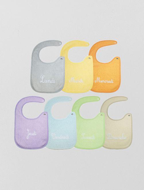 Pack de 7 baberos recién nacido                             multicolor