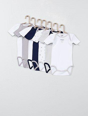 1d87817ab Niño 0-36 meses - Pack de 7 bodis estampados - Kiabi
