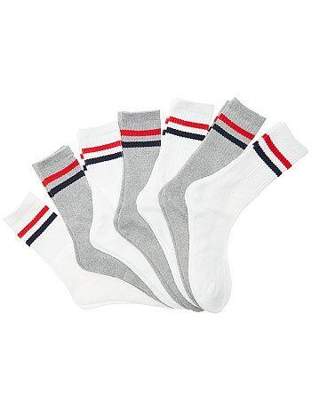 Hombre - Pack de 7 pares de calcetines de deporte - Kiabi