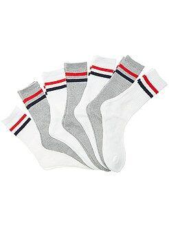 Calcetines - Pack de 7 pares de calcetines de deporte - Kiabi