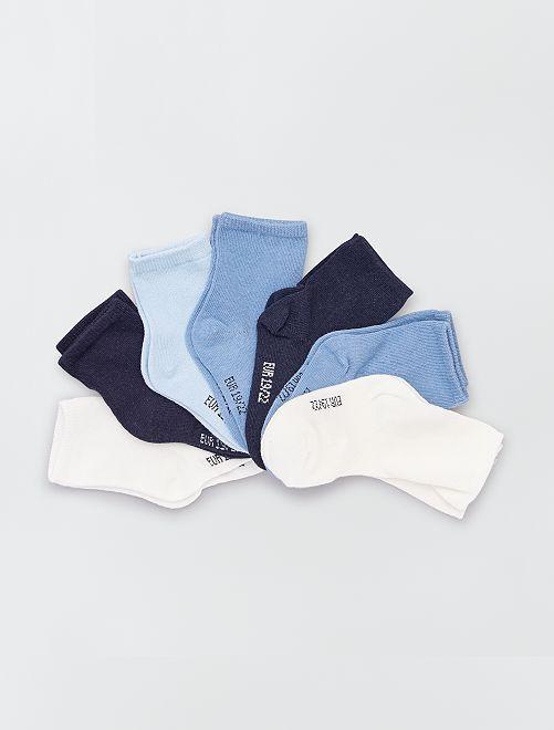 Pack de 7 pares de calcetines eco-concepción                                         azul