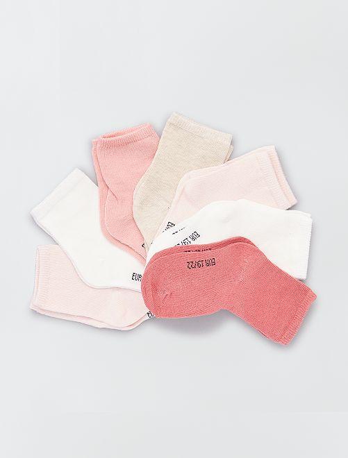 Pack de 7 pares de calcetines eco-concepción                                         ROSA