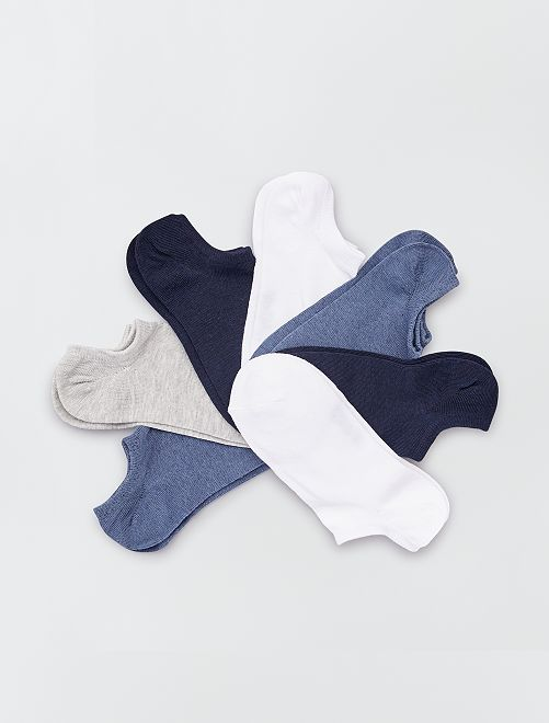 Pack de 7 pares de calcetines invisibles                                                                             AZUL