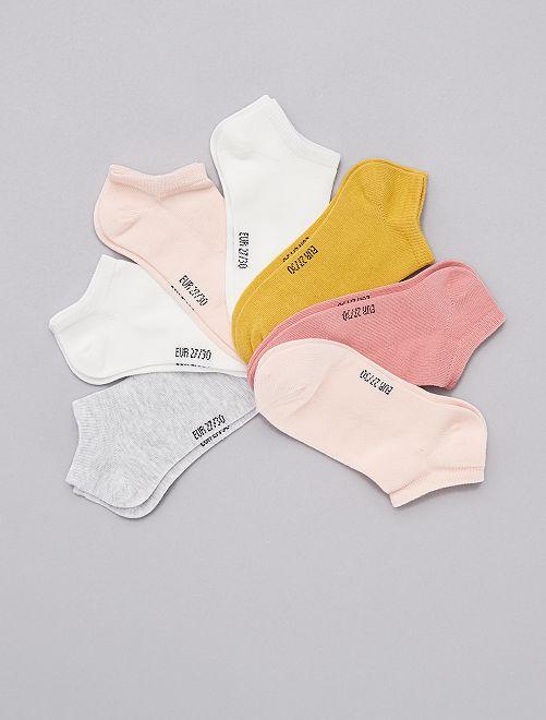 Pack de 7 pares de calcetines invisibles                                         BLANCO