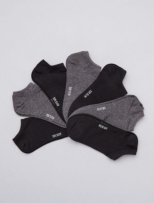 Pack de 7 pares de calcetines invisibles                                         GRIS