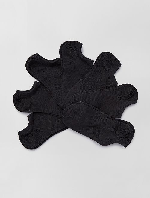Pack de 7 pares de calcetines invisibles                                                                 negro