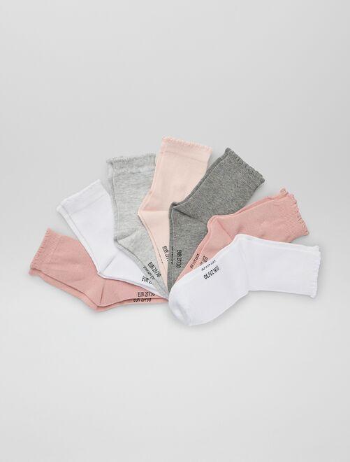 Pack de 7 pares de calcetines                             ROSA