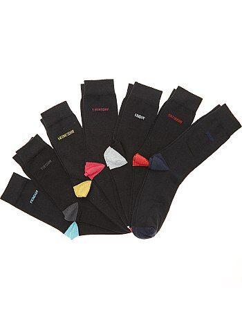 Tallas grandes hombre - Pack de 7 pares de calcetines semanal - Kiabi