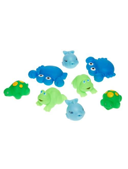 Pack de 8 jueguetes para el baño                                         azul