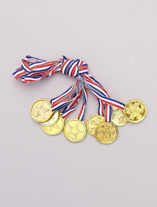 Pack de 8 medallas                             BEIGE