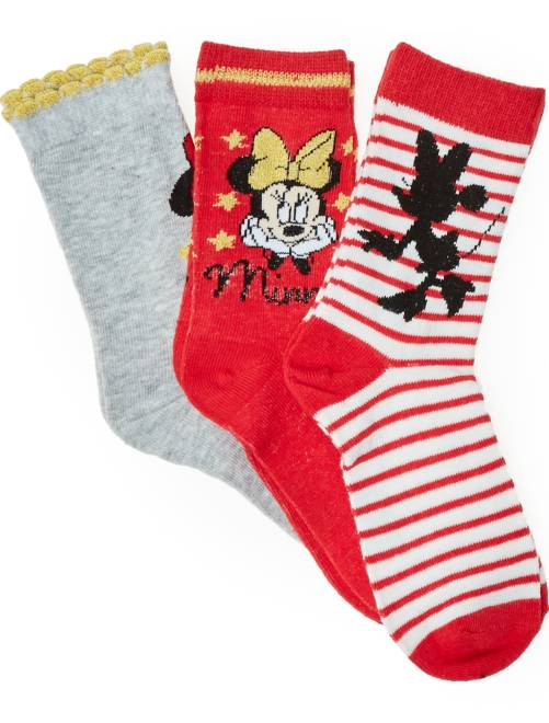 Pack de calcetines 'Disney Minnie Mouse'                             ROJO Chica