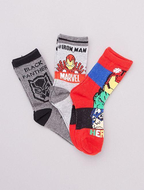Pack de calcetines 'Los Vengadores' 'Marvel'                                         rojo