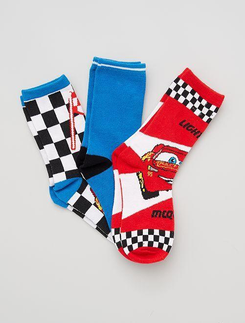 Pack de calcetines 'Rayo McQueen' 'Cars' 'Disney'                                         NEGRO