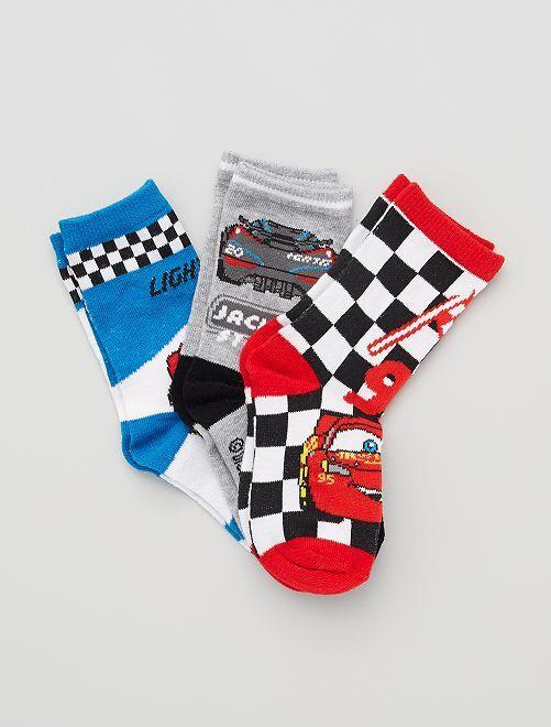 Pack de calcetines 'Rayo McQueen' 'Cars' 'Disney'                                         ROJO