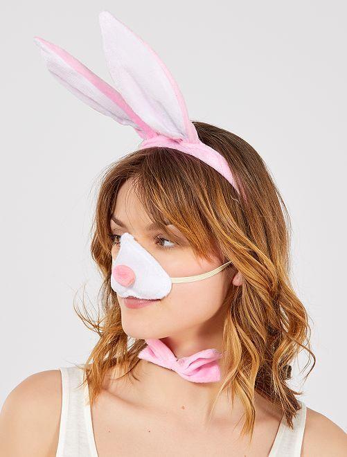 Pack de conejo                             rosa/blanco