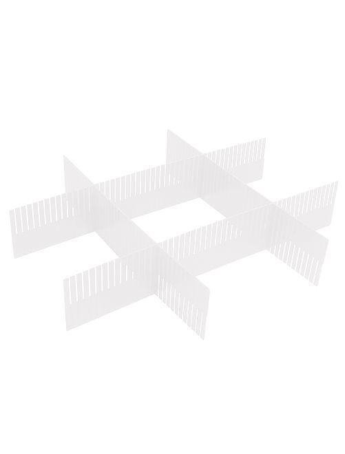 Pack separadores de cajón de plástico                     transparente Hogar