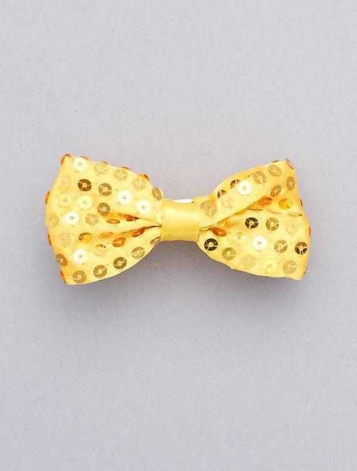 Pajarita con lentejuelas                                                     dorado