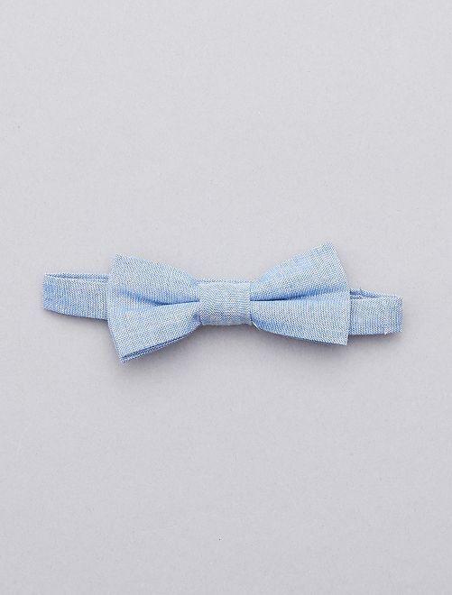Pajarita de chambray                             azul Chico