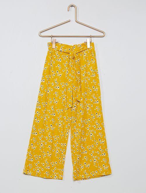 Pantalón ancho                                                     AMARILLO