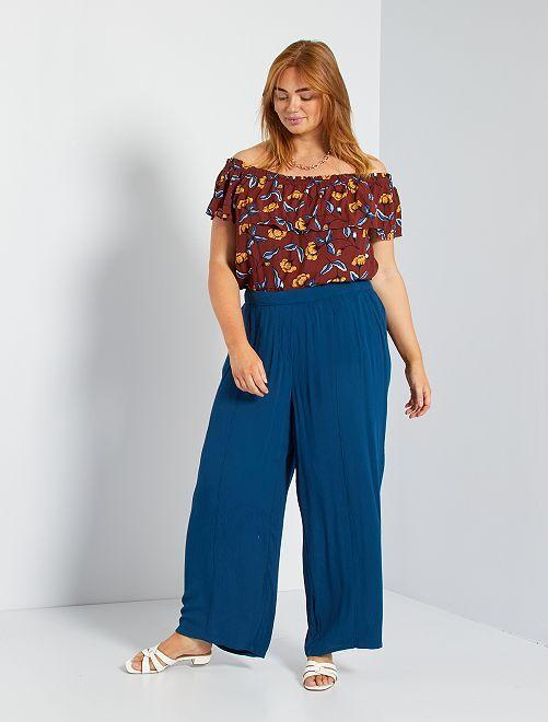 Pantalón ancho                                             azul poseidon