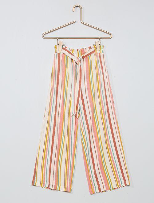 Pantalón ancho                                                     BEIGE