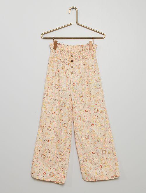 Pantalón ancho                                         BLANCO