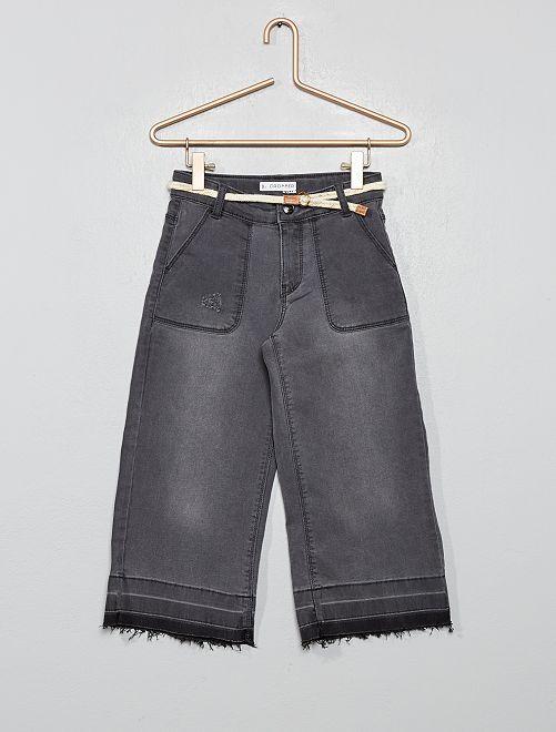 Pantalón ancho cropped                             GRIS