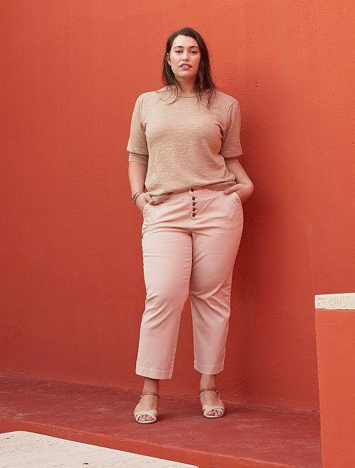 Pantalón ancho de colores                                         ROSA