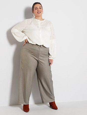 Pantalones Anchos Tallas Grandes Mujer Talla 48 Kiabi