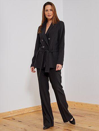 Mujer talla 34 a 48 - Pantalón ancho estilo sastre - Kiabi 7fbabc5bba2a