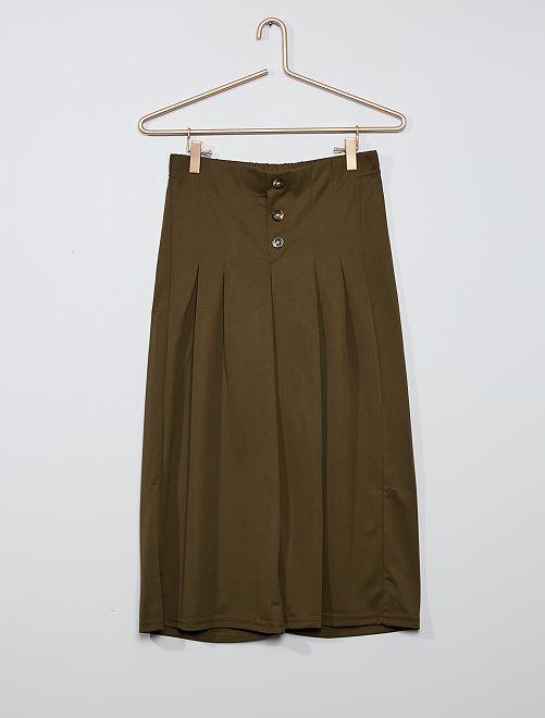 Pantalón ancho vaporoso                             KAKI