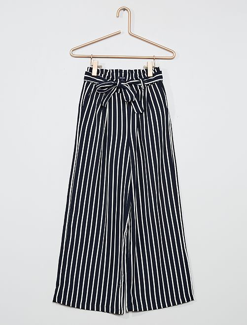 Pantalón ancho y vaporoso                                                                             AZUL