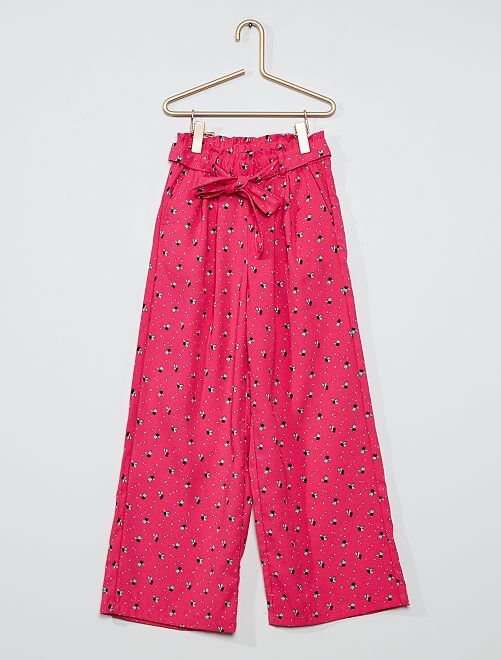 Pantalón ancho y vaporoso                                                                             ROSA
