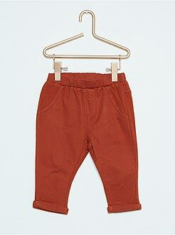 Niño 0-36 meses Pantalón bimaterial de sarga y felpa
