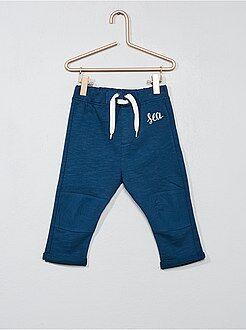 Pantalones - Pantalón bordado de felpa - Kiabi