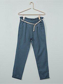 Niña 3-12 años - Pantalón brillante de gabardina - Kiabi