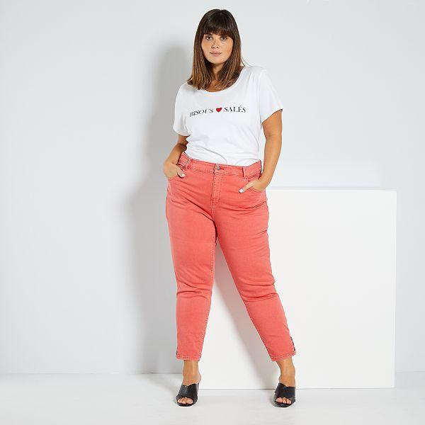 Pantalon Capri Con Botones Tallas Grandes Mujer Kiabi 18 00