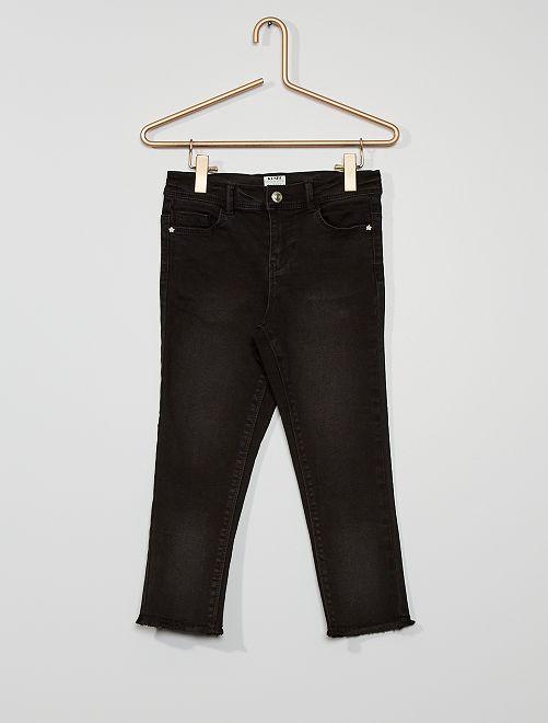 Pantalón capri skinny de algodón elástico eco-concepción                                         NEGRO