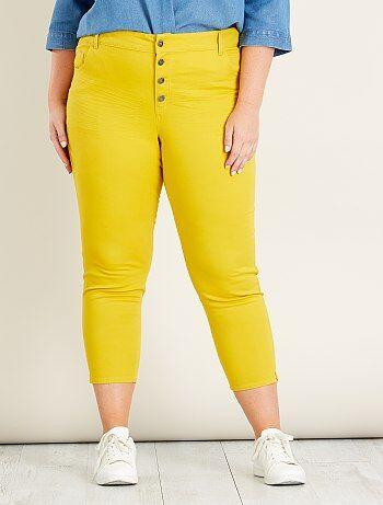 Pantalón capri slim con 4 botones - Kiabi
