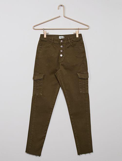 Pantalón cargo eco-concepción                                                     KAKI